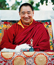 Photo of Tibetan Lama Tarthang Tulku during the Nyingma Monlam Chenmo